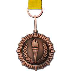 Olympic Torch Bronze Medal by School Badges UK