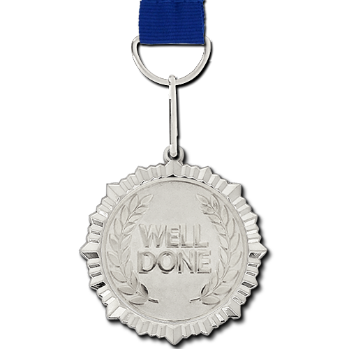 Well Done Silver Medal by School Badges UK