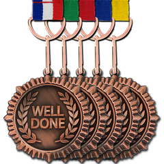 Well Done Bronze Medal by School Badges UK