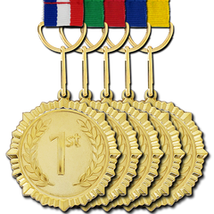 1st Place Gold Medal by School Badges UK