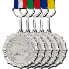 2nd Place Silver Medal by School Badges UK