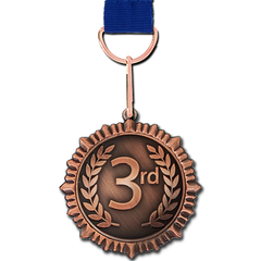 3rd Place Bronze Medal by School Badges UK