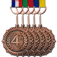 4th Place Bronze Medal by School Badges UK