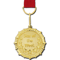 Star of the Week Gold Medal by School Badges UK