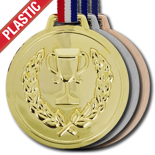 Plastic Trophy Medal by School Badges UK