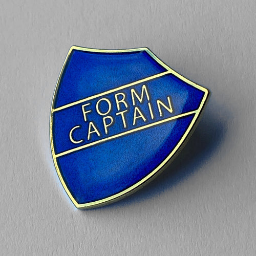 Blue Form Captain Shield Badge **SALE ITEM - 50% OFF** by School Badges UK