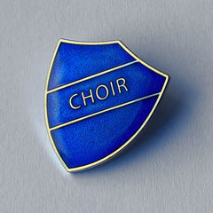 Blue Choir Shield Badge **SALE ITEM - 50% OFF** by School Badges UK