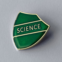 Green Science Shield Badge **SALE ITEM - 50% OFF** by School Badges UK