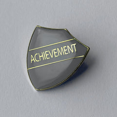 Grey Achievement Shield Badge **SALE ITEM - 50% OFF** by School Badges UK