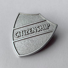 Silver Citizenship Metal Shield Badge **SALE ITEM - 50% OFF** by School Badges UK