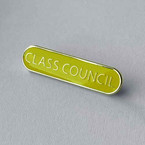 Yellow Class Council Bar Badge **SALE ITEM - 50% OFF** by School Badges UK