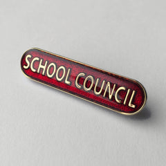 Red School Council Bar Badge **SALE ITEM - 50% OFF**