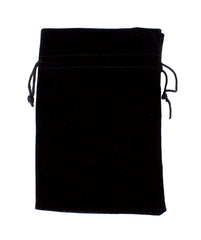 "Dice Bag: Brybelly - Velour Pouch with Drawstring, Black (7x5"")"