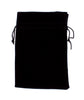 Dice Bag: Brybelly - Velour Pouch with Drawstring, Black (7x5