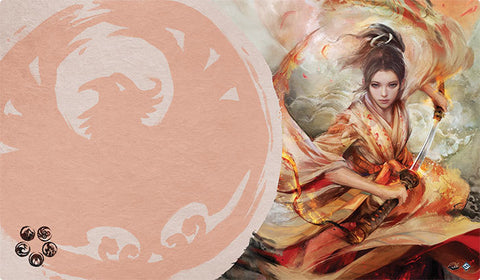 L5R LCG - Playmat - The Souls of Shiba (Phoenix)