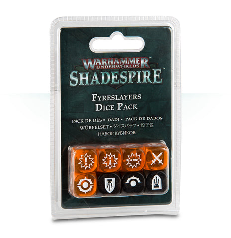 WH Underworlds: Shadespire - The Chosen Axe: Dice Pack (Fyreslayers)