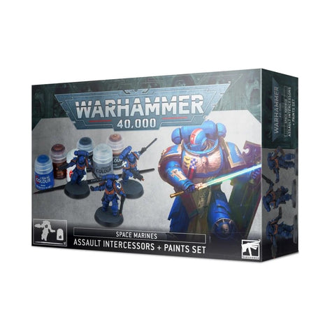 WH 40K: Assault Intercessors + Paints Set