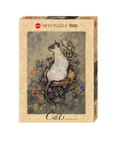 Jigsaw Puzzle: HEYE - Cats Siamese (1000 Pieces)