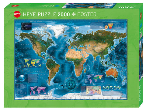 Jigsaw Puzzle: HEYE - Map Art Satellite Map (2000 Pieces)