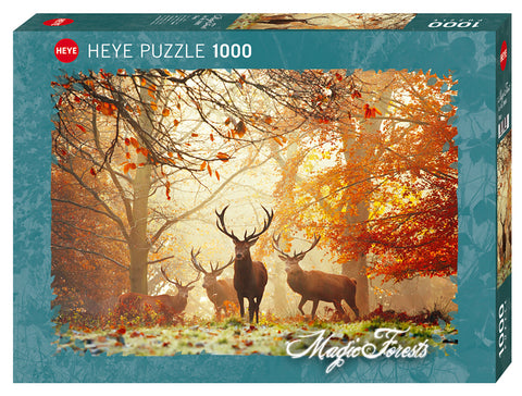 Jigsaw Puzzle: HEYE - Magic Forests Stags (1000 Pieces)