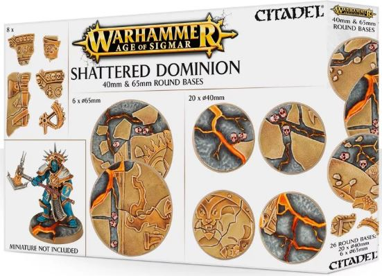 WH AoS: Shattered Dominion - 40mm & 65mm Round Bases