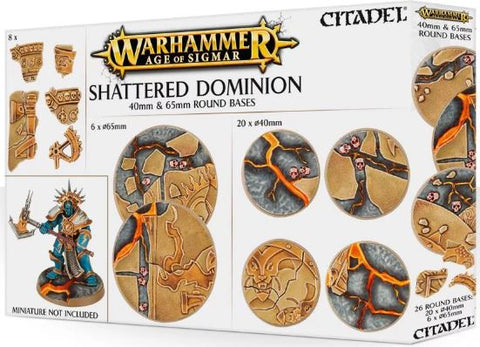 Warhammer Age of Sigmar: Shattered Dominion - 40mm & 65mm Round Bases