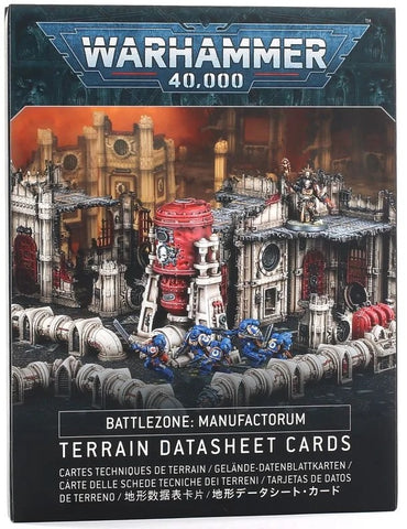 WH 40K: Battlezone: Manufactorium - Terrain Data Sheet Cards