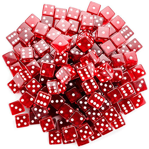 BryBelly: Red Dice - 19mm (Set of 20)