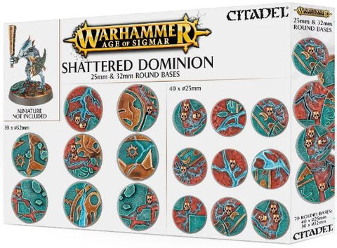 Warhammer Age of Sigmar: Shattered Dominion - 25mm & 32mm Round Bases