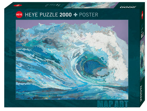 Jigsaw Puzzle: HEYE - Map Art Map Wave (2000 Pieces)