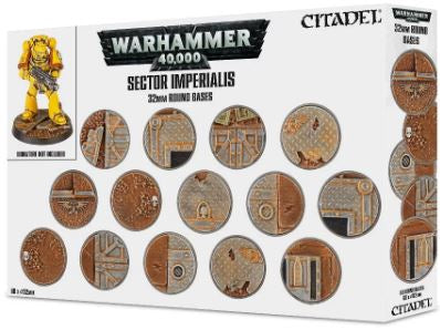 WH 40K: Sector Imperialis - 32mm Round Bases