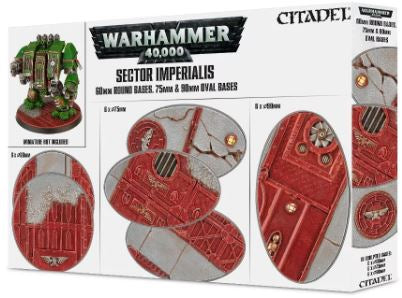 WH 40K: Sector Imperialis - 60mm Round & 75/90mm Oval Bases