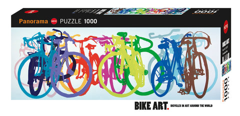 Jigsaw Puzzle: HEYE - Bike Art Colourful Row (1000 Pieces)