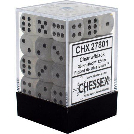 Chessex Dice: Frosted - 12mm D6 (36 dice)