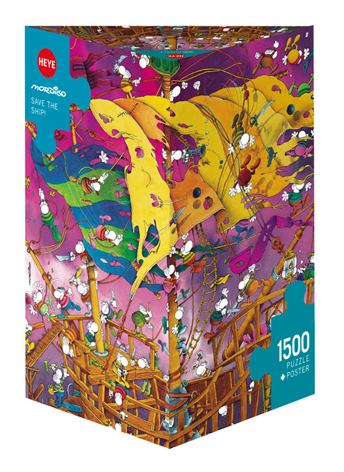 Jigsaw Puzzle: HEYE - Mordillo Save the Ship! (1500 Pieces)