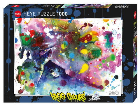 Jigsaw Puzzle: HEYE - Free Colours Meow (1000 Pieces)