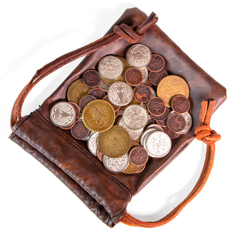 Accessories Board Games: Brybelly - Metal Coins with Leather Bag, The Dragon's Horde (x60)