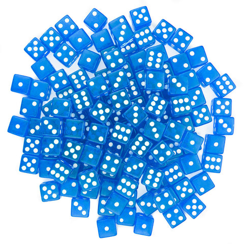 BryBelly: Blue Dice - 16mm (Set of 20)