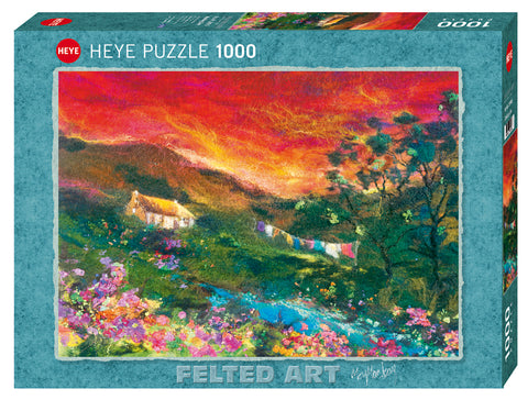 Jigsaw Puzzle: HEYE - Felted Art Washing Line (1000 Pieces)