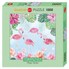 Jigsaw Puzzle: HEYE - Turnowsky Flamingos & Lilies (1000 Pieces)