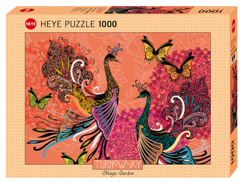 Jigsaw Puzzle: HEYE - Turnowsky Peacocks & Butterflies (1000 Pieces)