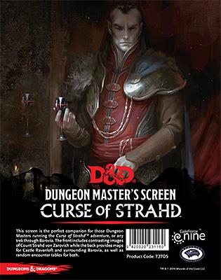 D&D RPG: Curse of Strahd: Campaign DM Screen