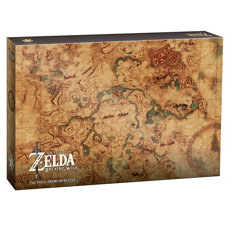 Jigsaw Puzzle: The OP - The Legend of Zelda: Breath of the Wild - Hyrule World Map (750 Pieces)