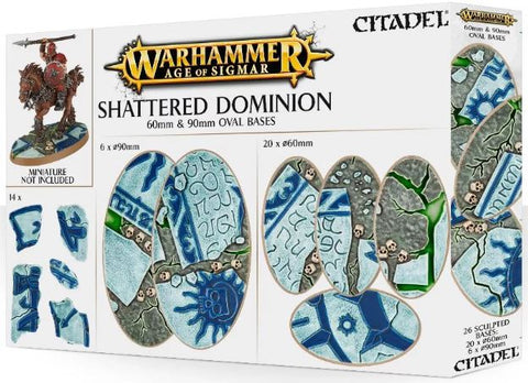 Warhammer Age of Sigmar: Shattered Dominion - 60mm & 90mm Oval Bases