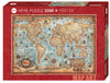 Jigsaw Puzzle: HEYE - Map Art The World (2000 Pieces)
