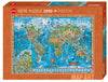 Jigsaw Puzzle: HEYE - Map Art Amazing World (2000 Pieces)