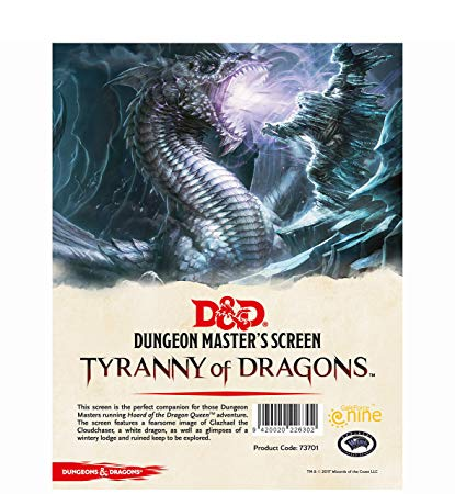 D&D RPG: Horde of the Dragon Queen - DM Screen