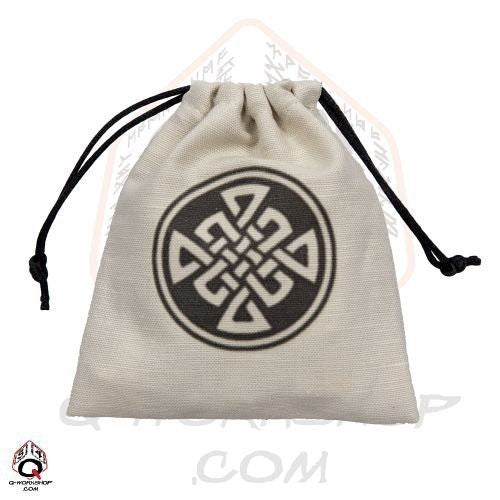 Dice Bag: Q Workshop - Celtic, Beige/Black