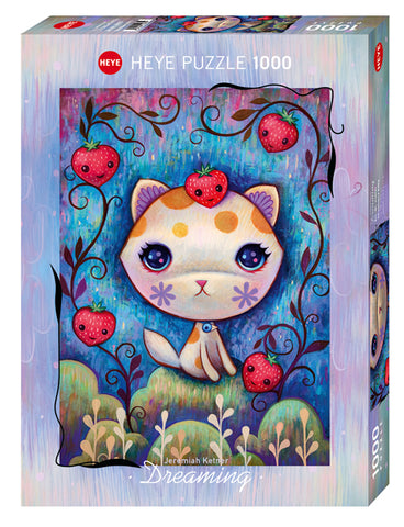 Jigsaw Puzzle: HEYE - Dreaming Strawberry Kitty (1000 Pieces)