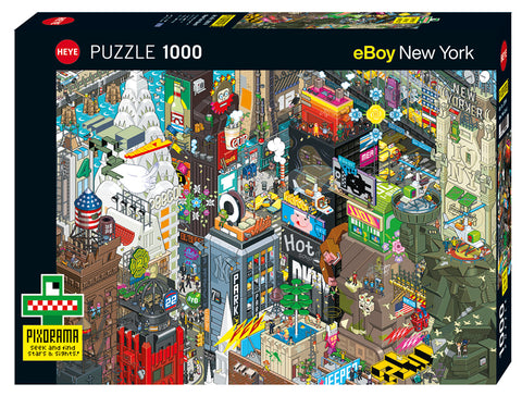 Jigsaw Puzzle: HEYE - eBoy New York Quest (1000 Pieces)